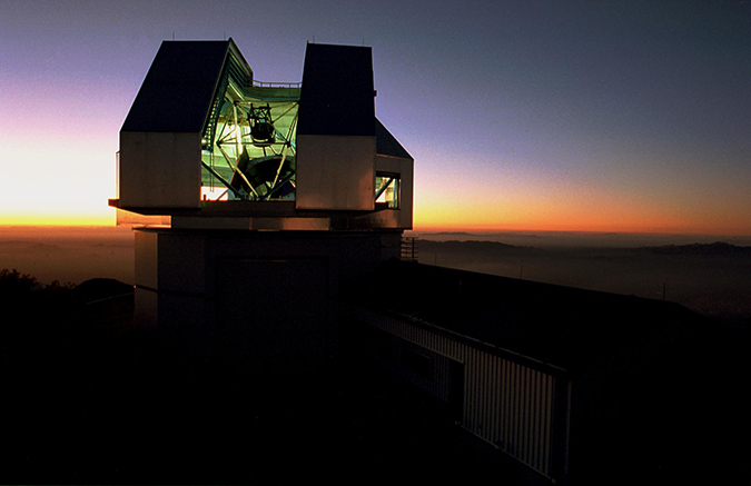 The WIYN Telescope, where NEID will be deployed.